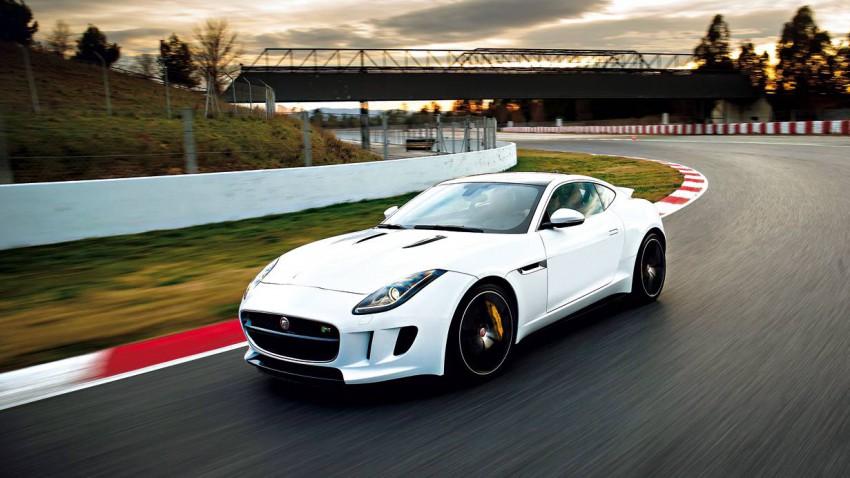 jaguar f-type coupe 2014 weiß vorne seite front