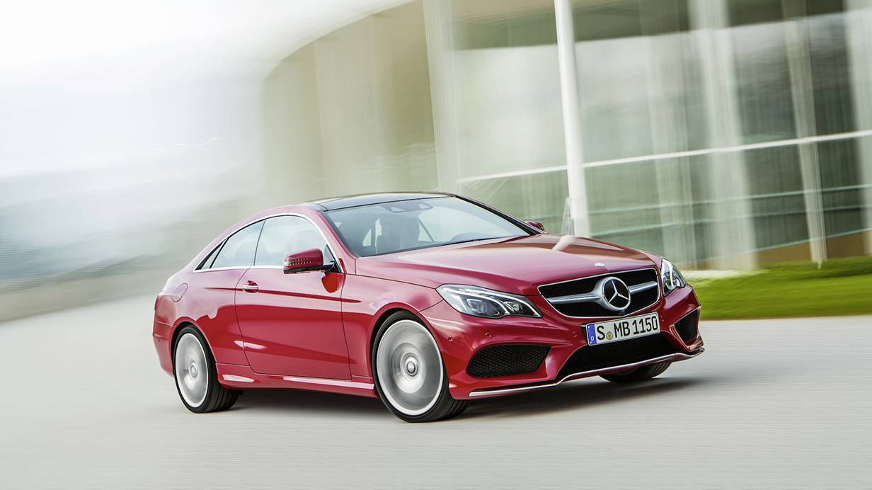 mercedes benz e 400 coupe 2014 rot vorne front seite
