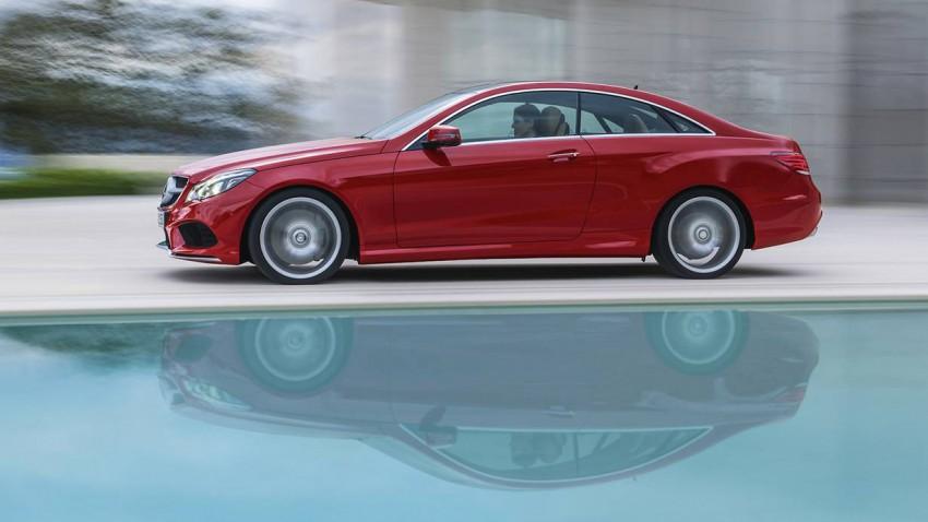 mercedes benz e 400 coupe 2014 rot seite spiegelung