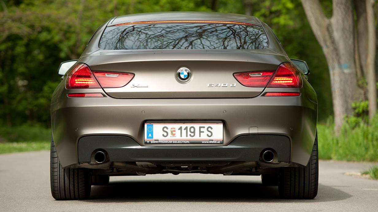 bmw 640d xdrive gran coupe hinten heck