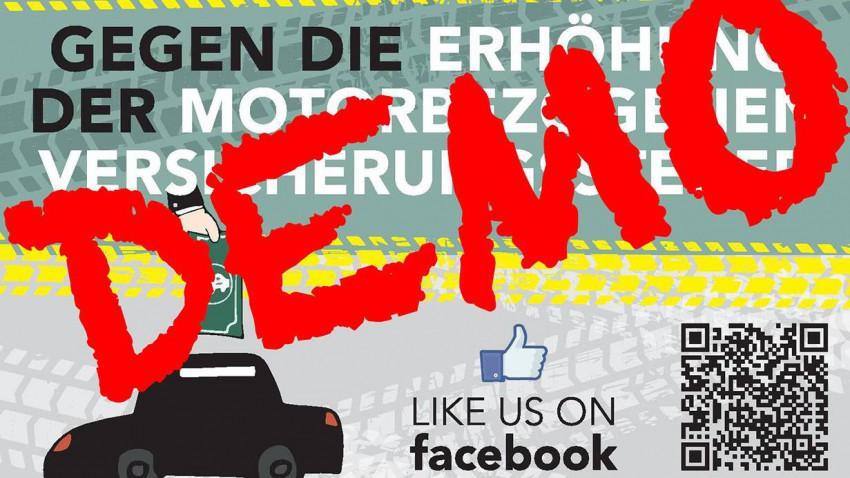 © facebook, Gegen die Erhöhung der motorbezogenen Versicherungssteuer und NoVA