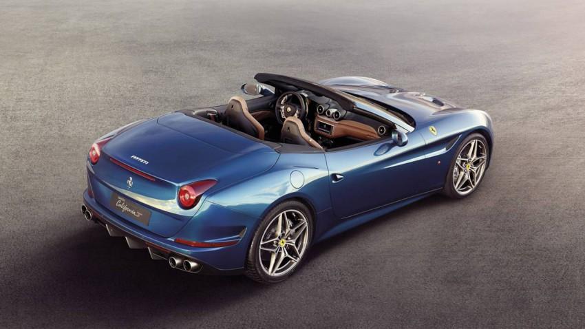 Ferrari California T 2014 blau hinten heck seitlich