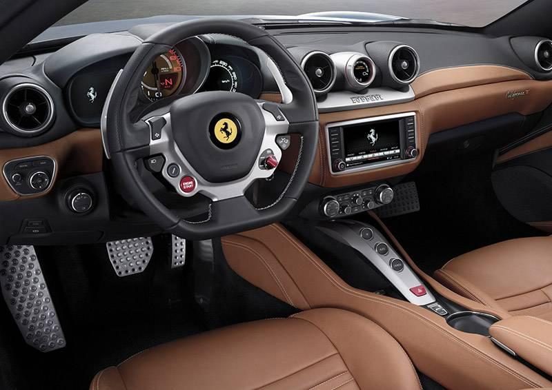 Ferrari California T 2014 cockpit innenraum armaturen lenkrad