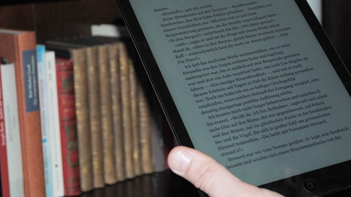 Leicht zu halten: Das neue iPad Air. © Bild: Nina Prazak