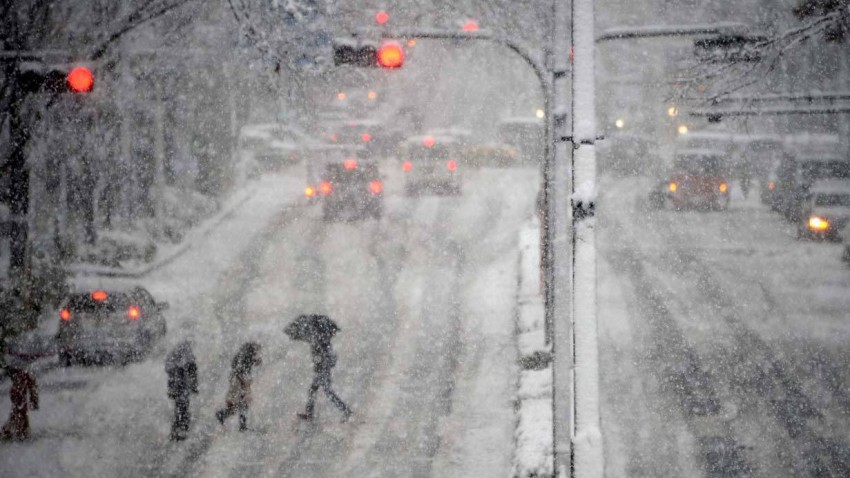 Starker Schneefall in Tokio