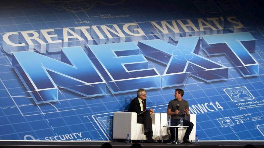 Mark Zuckerberg auf dem Mobile World Congress in Barcelona.