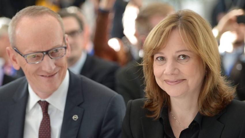 Mary Barra und Karl-Thomas Neumann
