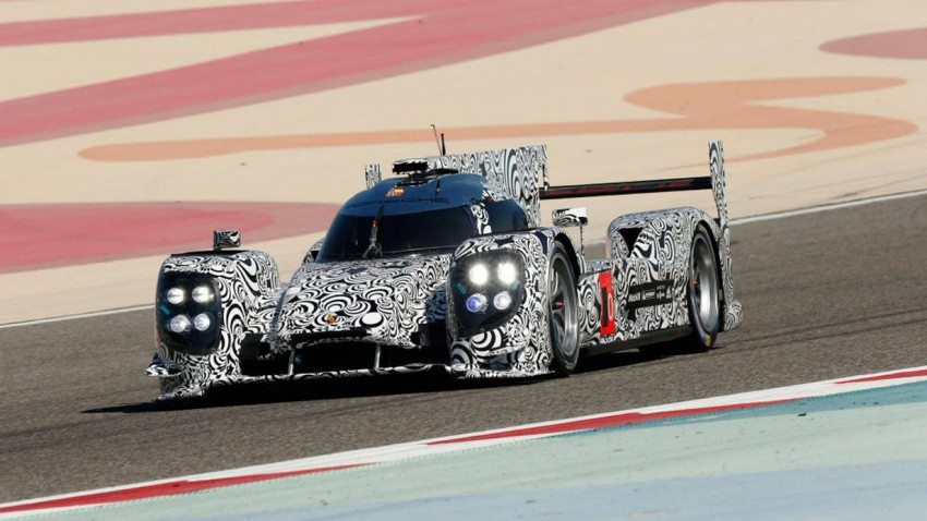 Der Porsche 919 Hybrid bei Tests in Bahrain