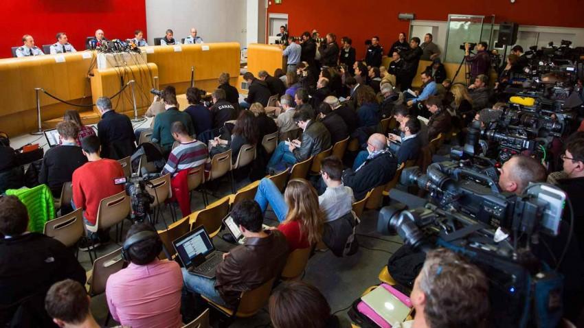 Pressekonferenz zum Unfallhergang Schumachers