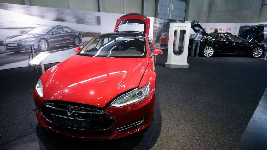 Tesla bei der Vienna Autoshow