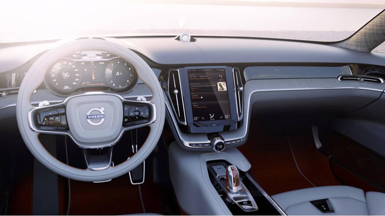 Volvo Concept estatte video Touchscreen