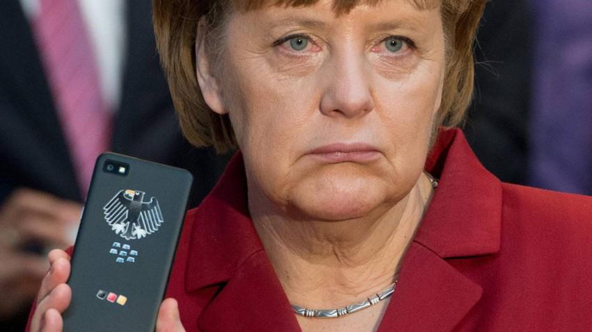 Angela Merkel auf der CeBit 2013