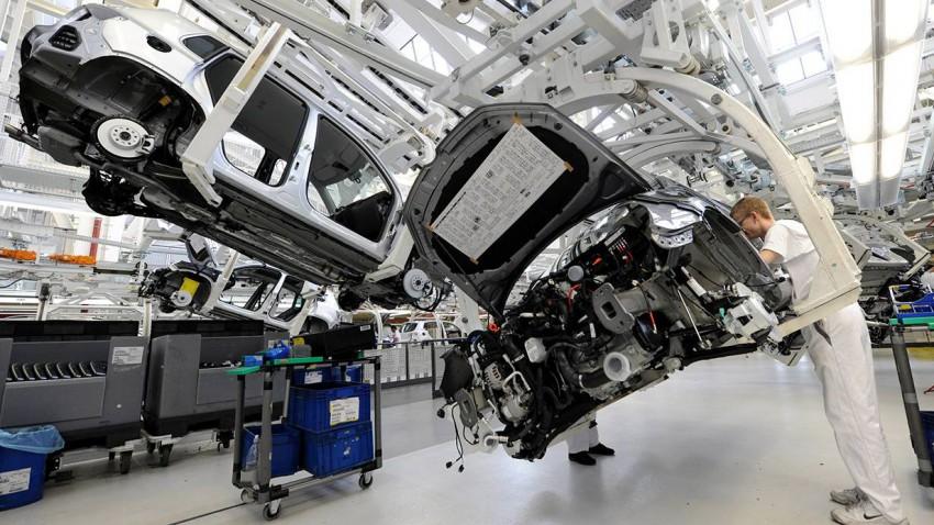 VW Werk Wolfsburg produktionsstraße