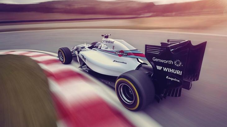 williams martini racing fw36 2014 hinten seite