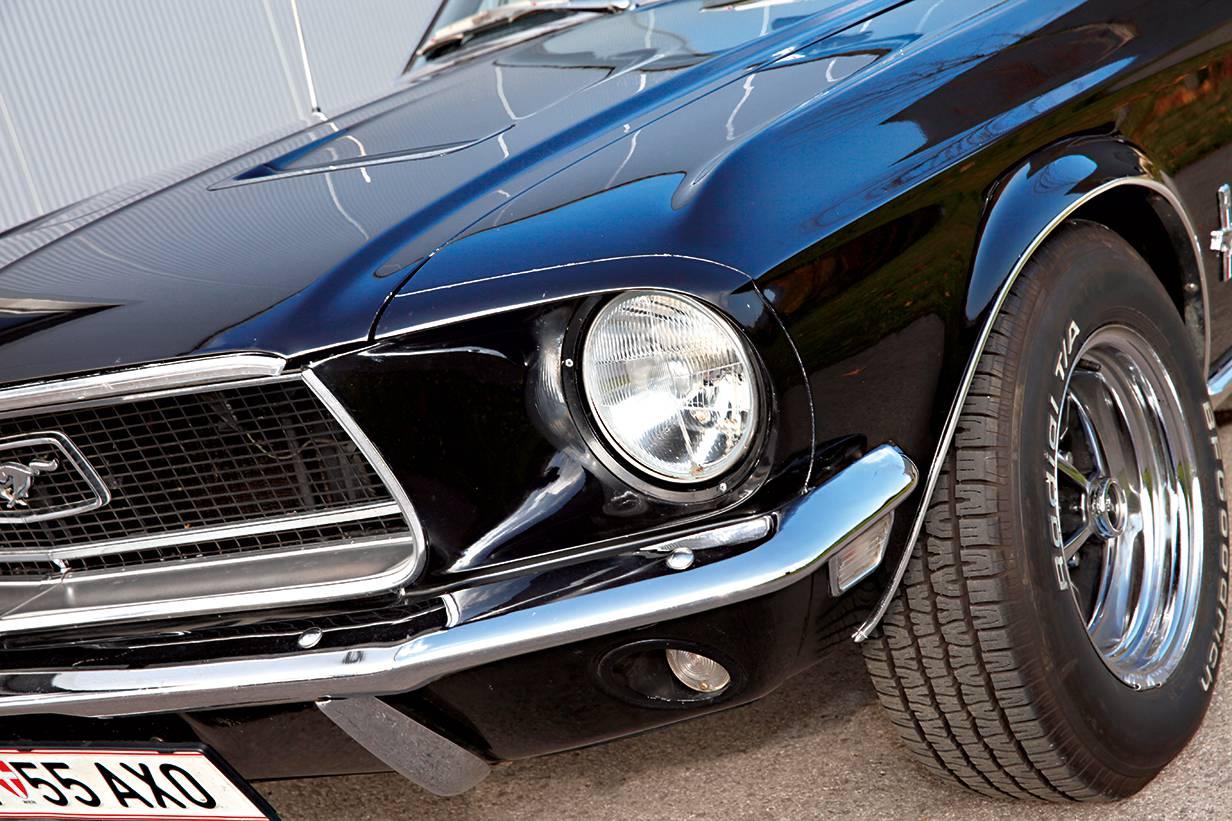 ford mustang 1969 kaufberatung schwarz scheinwerfer front frontblech