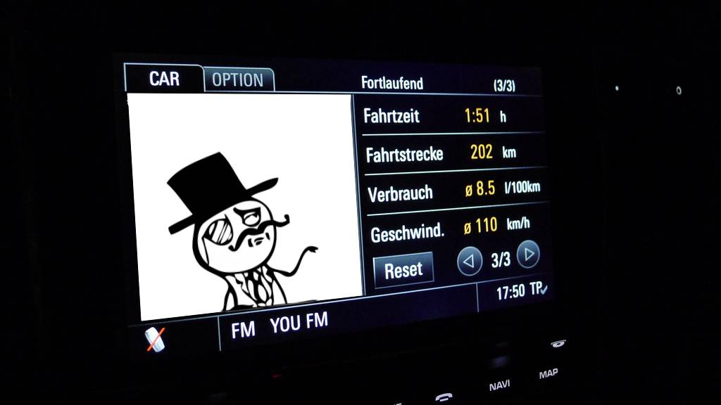 porsche panamera display like a sir meme