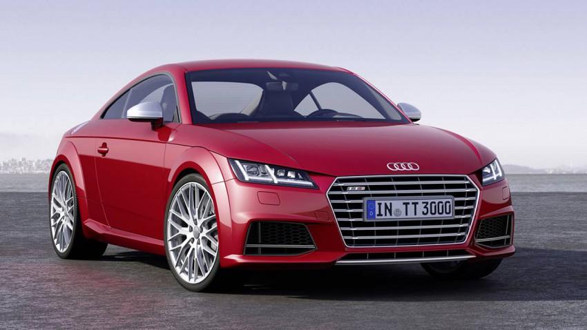 Audi TT 2014 rot vorne front seite kühlergrill scheinwerfer