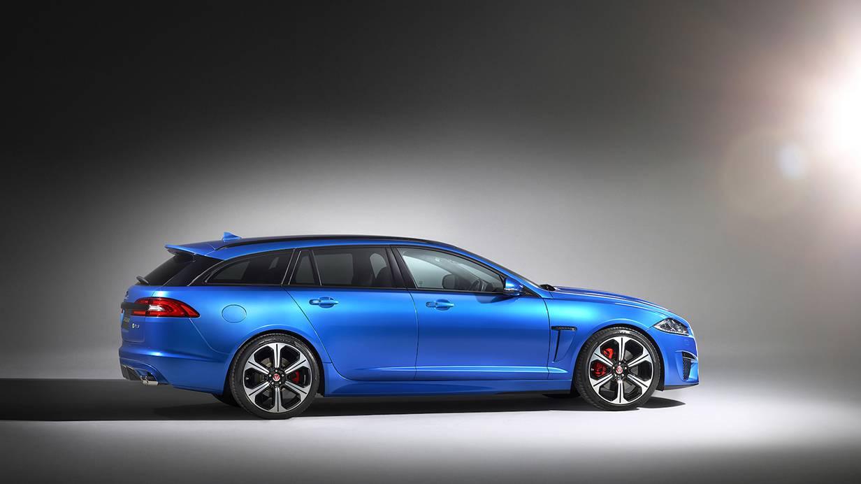 Jaguar XFR-S Sportbrake 2014 blau seite