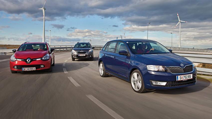 Der Kleinwagen sprießt in alle Richtungen. Alleine die  VW-Gruppe besetzt inzwischen jeden Zentimeter zwischen Polo und Golf,  hier in der MQB-Erscheinungsform als Skoda Rapid Spaceback.