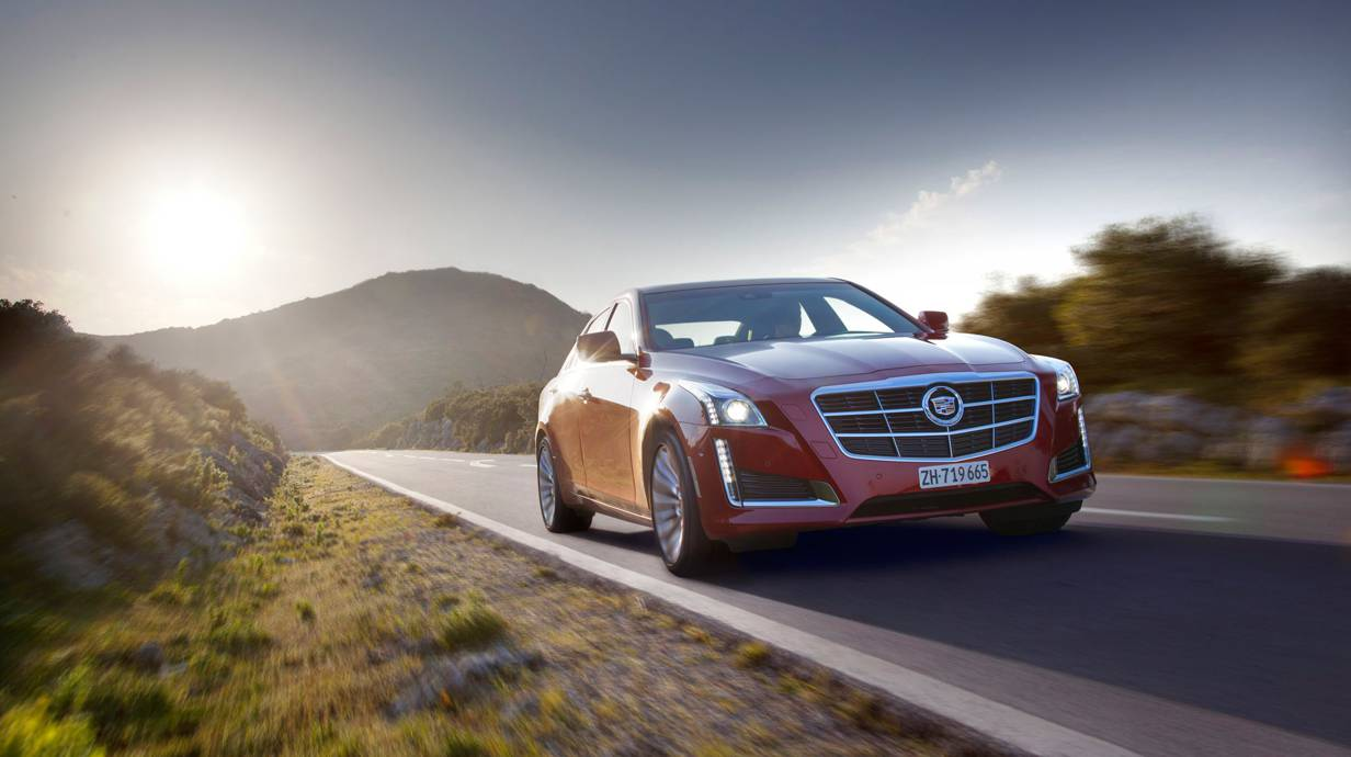 cadillac cts 2014 rot vorne front seite