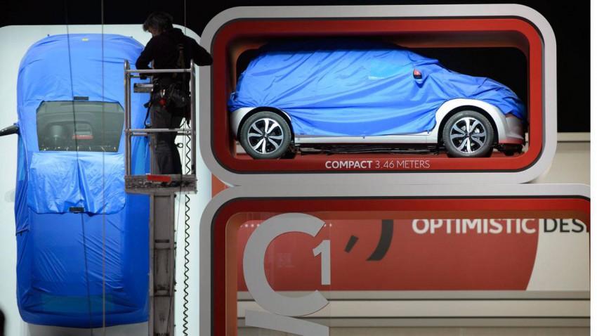 Der Citroen C1 auf der Automesse in Genf 2014