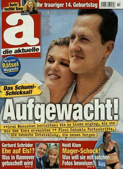 coverbild ausgabe zeitschrift die aktuelle 1396346431 1 Schumacher: Computer zu angebotener Schumacher Krankenakte ausgeforscht