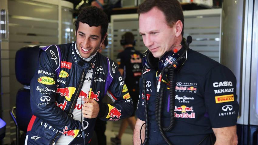 Daniel Ricciardo und Christian Horner in Melbourne 2014