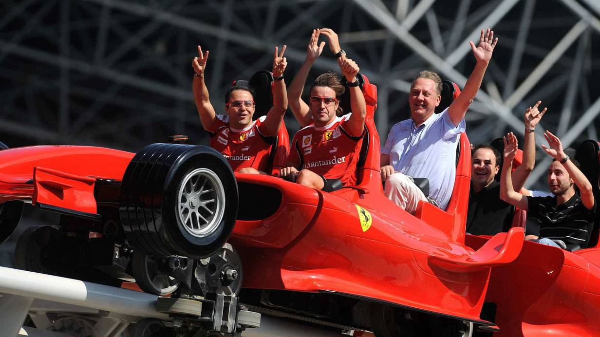 Die Ferrari World in Abu Dhabi