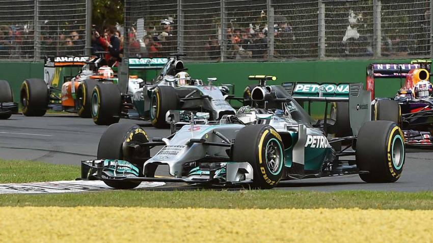 Formel 1 Rennautos beim GP von Australien