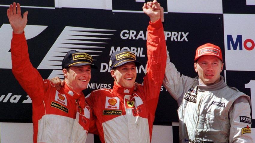 Siegerehrung des GP Frankreich 1998