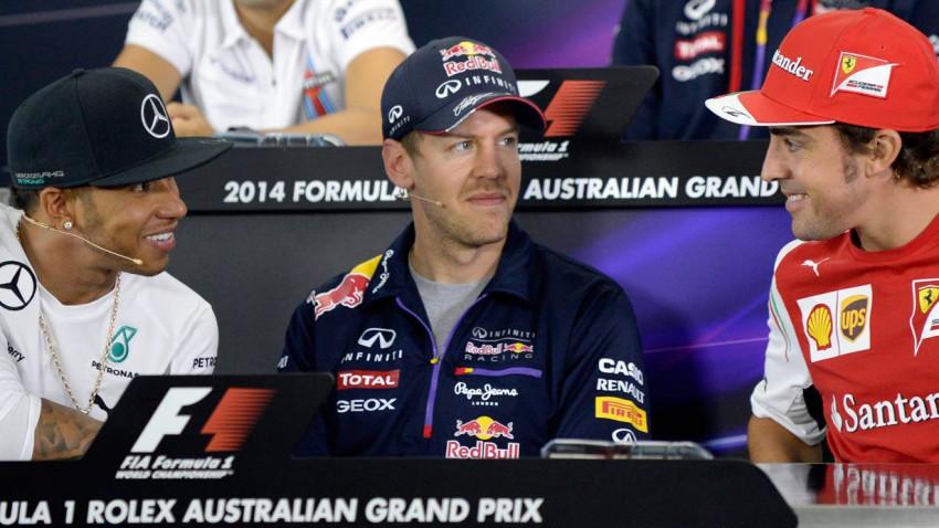 Hamilton, Vettel und Alonso vor dem Rennen in Australien