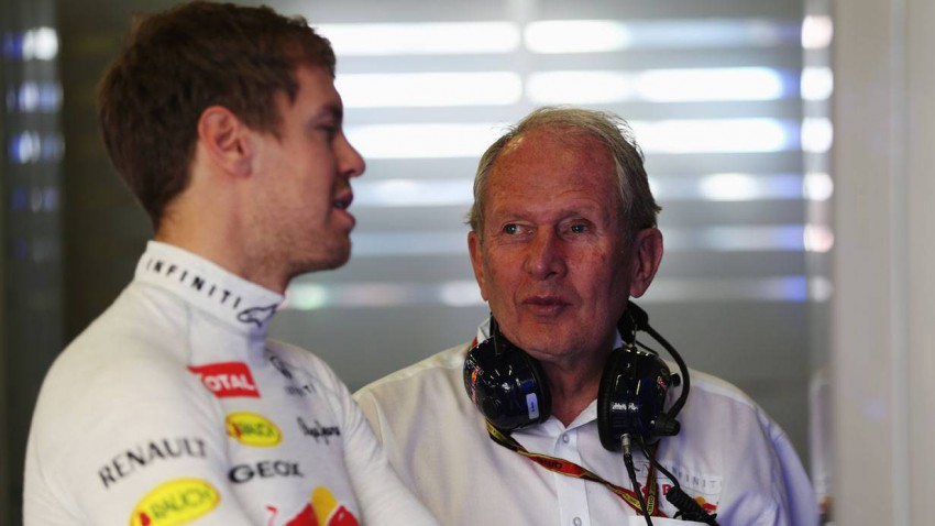 Helmut Marko und Sebastian Vettel beim GP von Australien