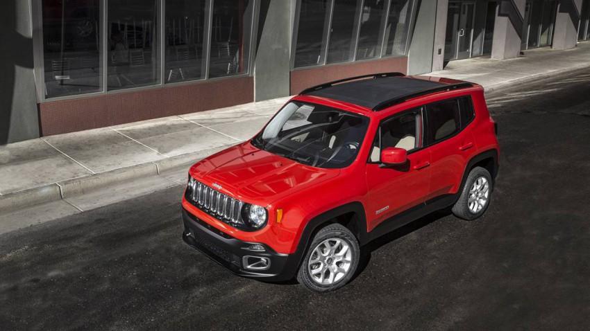 jeep renegade 2014 vorne oben faltdach seite rot