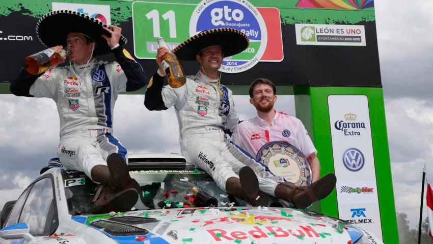 Siegerehrung der Rallye-Mexico