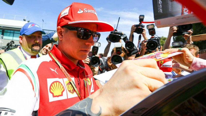 Kimi Raikkonen von Ferrari in Melbourne 2014