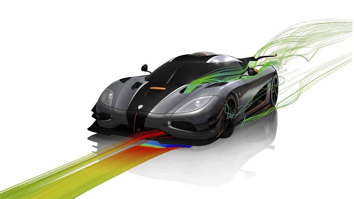 koenigsegg agera one:1 2014 aerodynamik