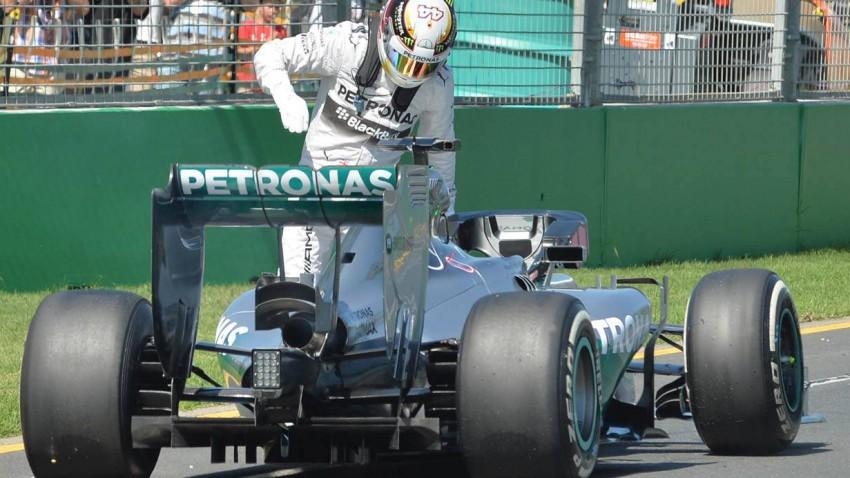 Lewis Hamilton im 1. freien Training von Melbourne