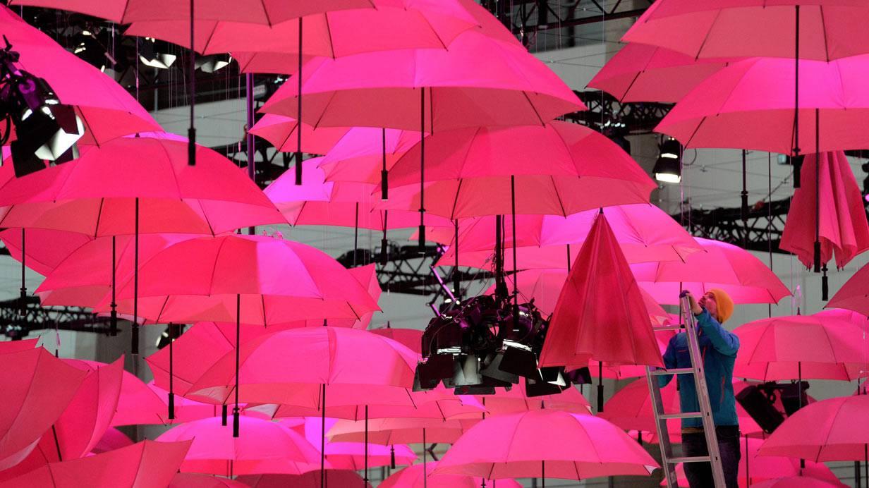 Der CeBIT-Messestand der Deutschen Telekom