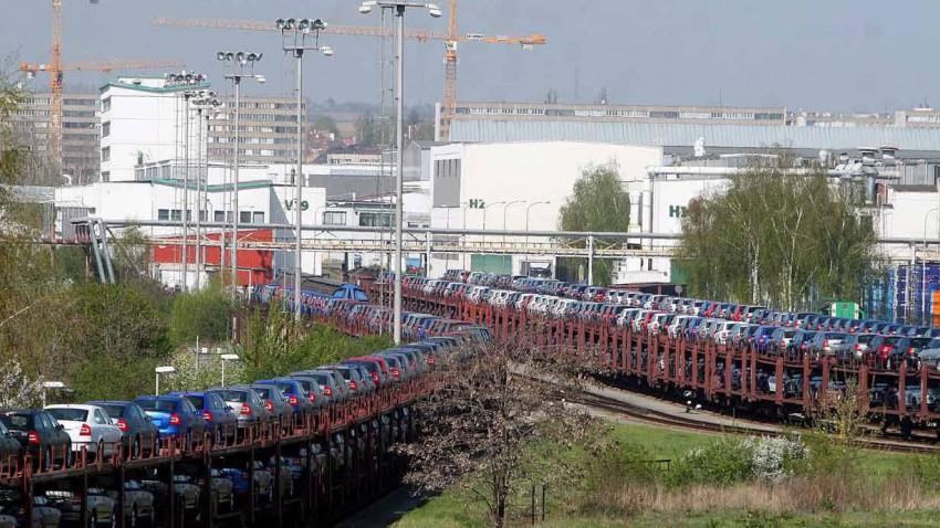 Skoda-Neuwagen in Mlada Boleslav