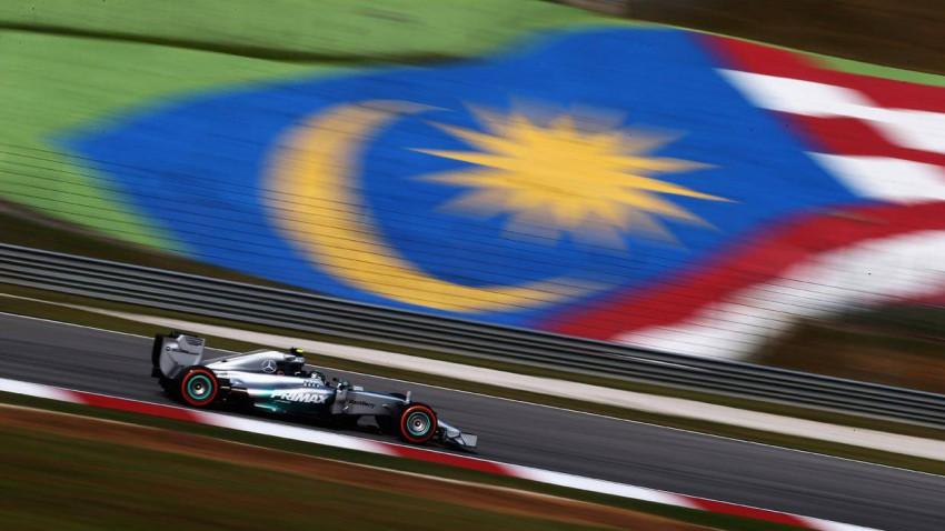 Nico Rosberg beim Training für den GP Malaysia 2014