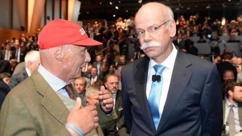 Niki Lauda und Dieter Zetsche