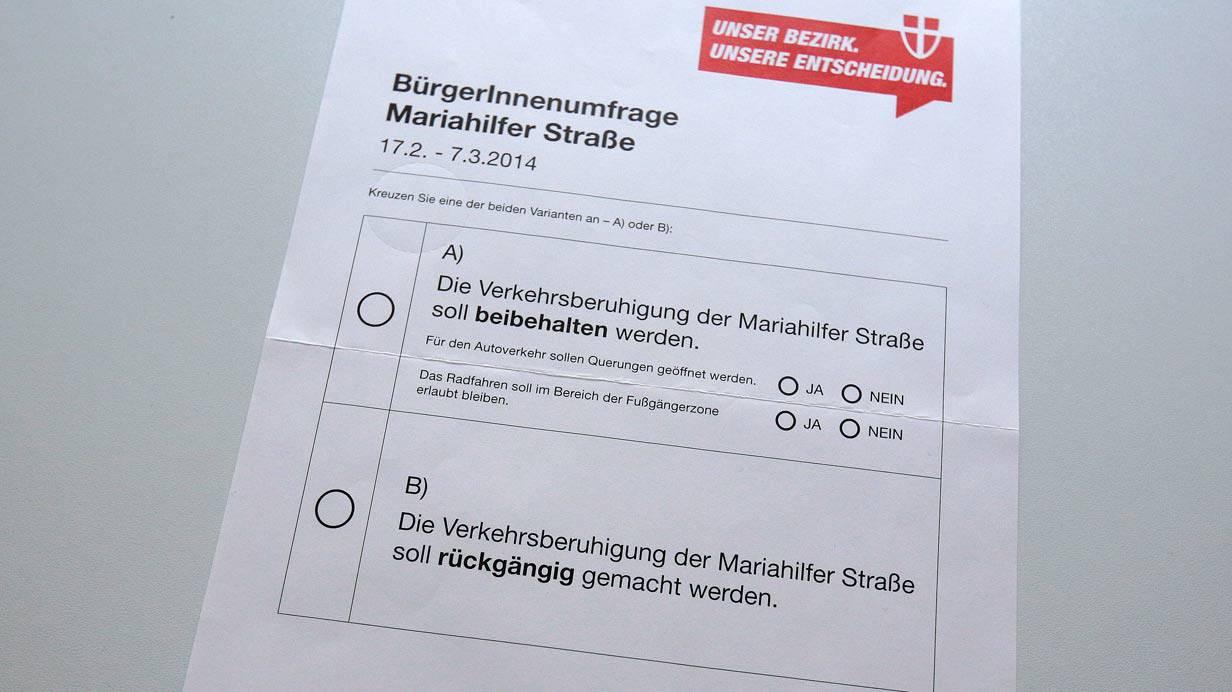 Stimmzettel der MaHü