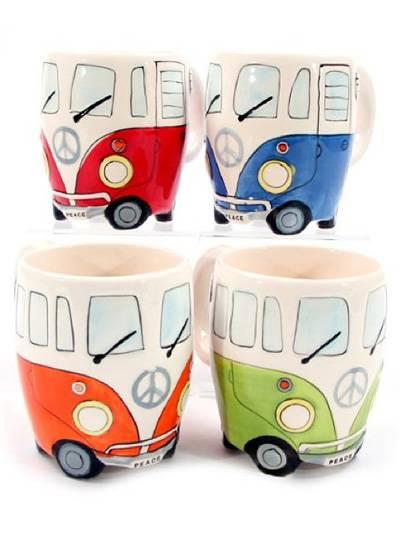 VW Bulli Toaster Tasse Frühstück Bus