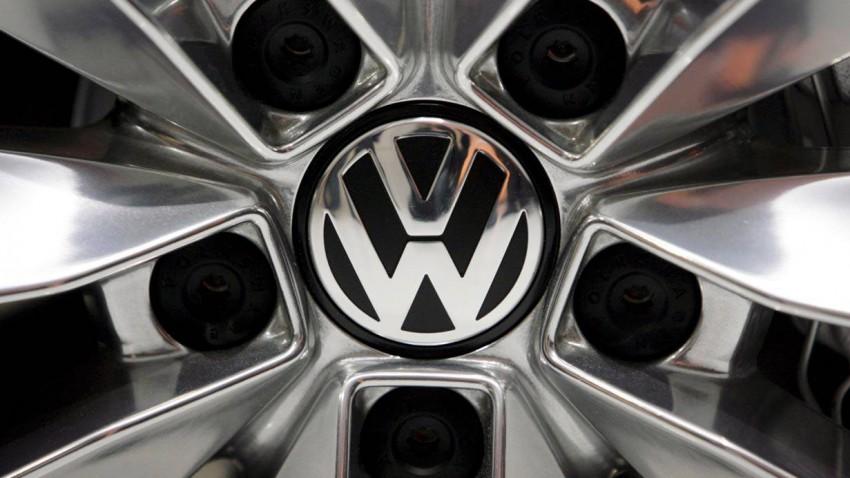Das VW Logo auf einer Felge