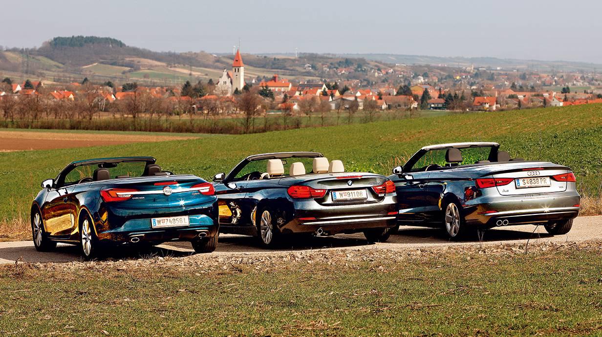 cabrio vergleich opel cascada bmw 4er cabrio audi a3 cabriolet 2014