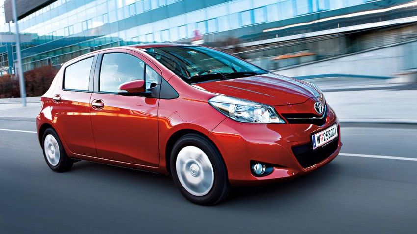 toyota yaris 1,33 multidrives style rot 2012 vorne front seite