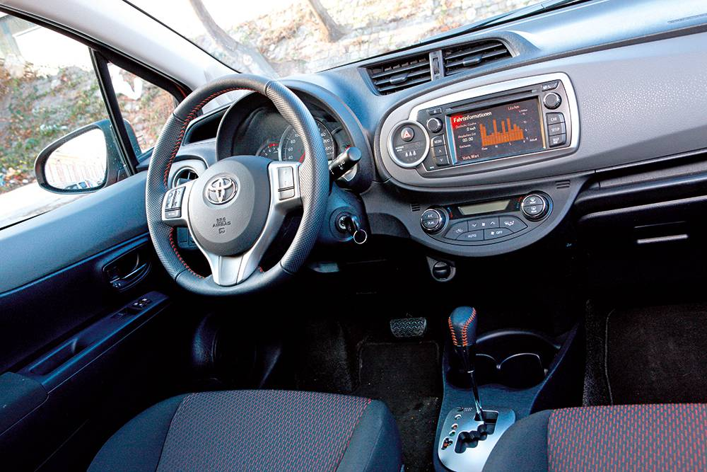 fahrbericht toyota yaris 1 33 multidrive s style im test. Black Bedroom Furniture Sets. Home Design Ideas