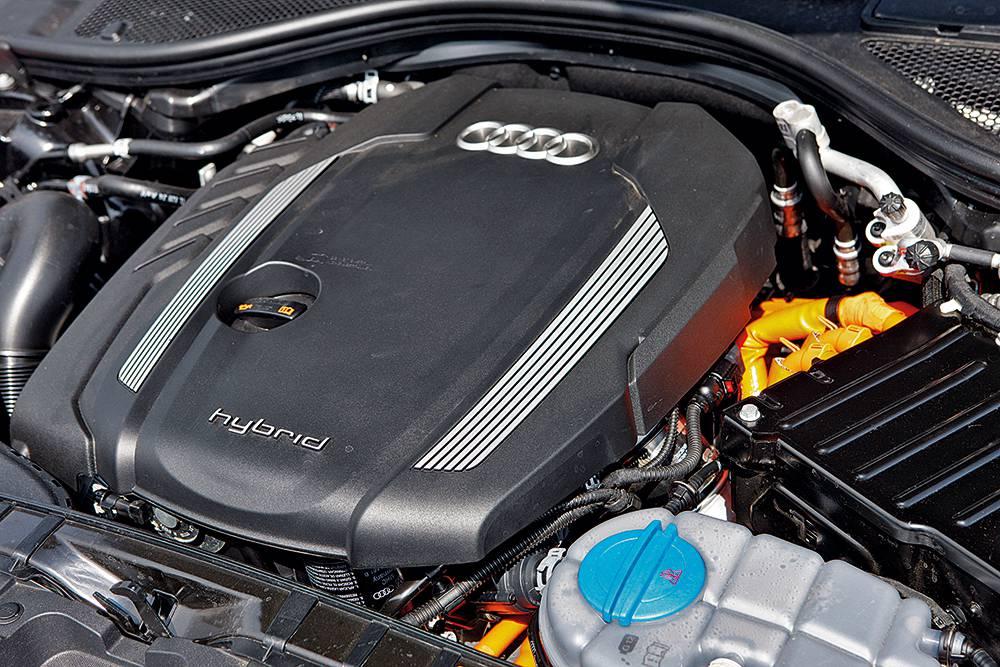audi a6 hybrid motorraum