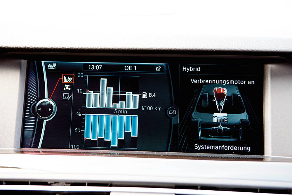 bmw activehybrid 5 display