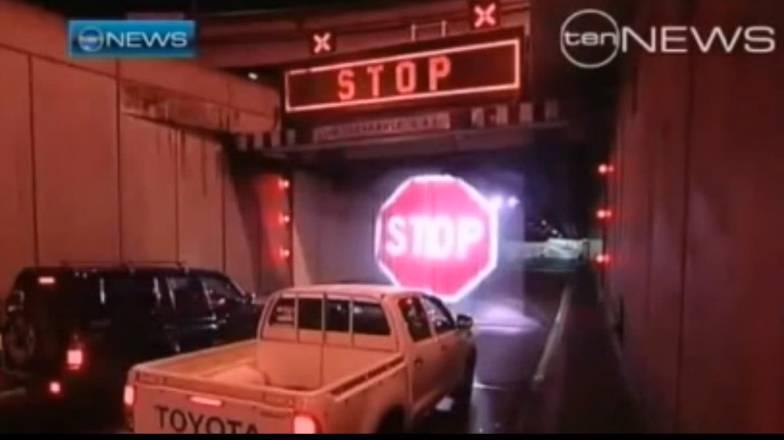 stop signal wasservorhang
